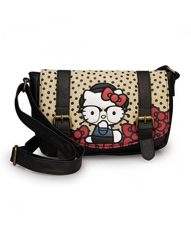 fe8e77004 Loving this Black & Red Hello Kitty Hipster Crossbody Bag on #zulily!  #zulilyfinds