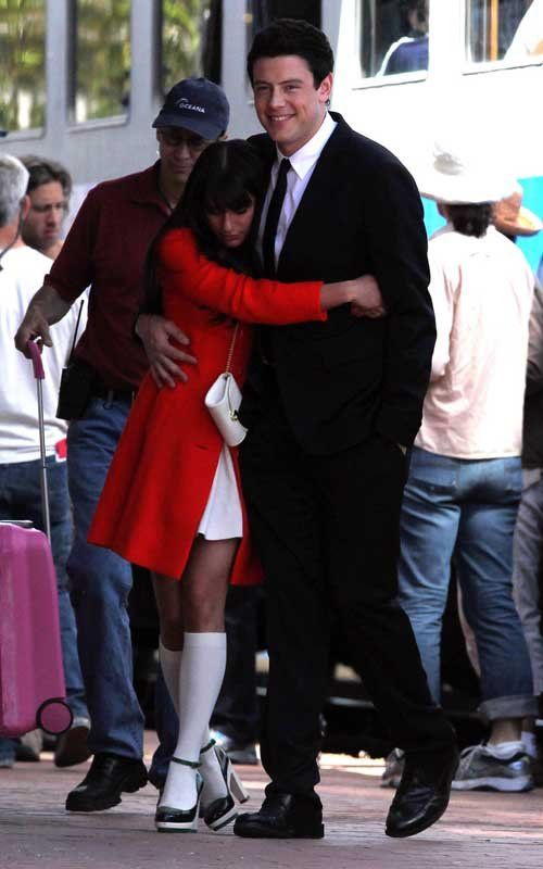 best cory monteith confirms dating lea michele on ellen show