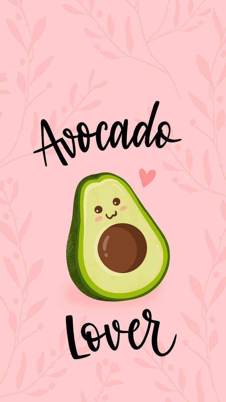 Wallpaper Avocado Lover von Gocase, rosa, Avocado, niedlich, Frchte, Bltter, Papier, ... - Bilder -