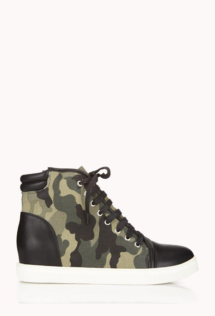 Camo Wedge Sneakers  2f9dcbe2c