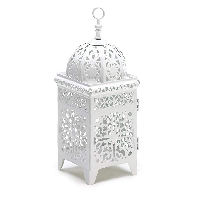Best Amazon Com 25 White Moroccan Wedding Candle Lantern 640 x 480