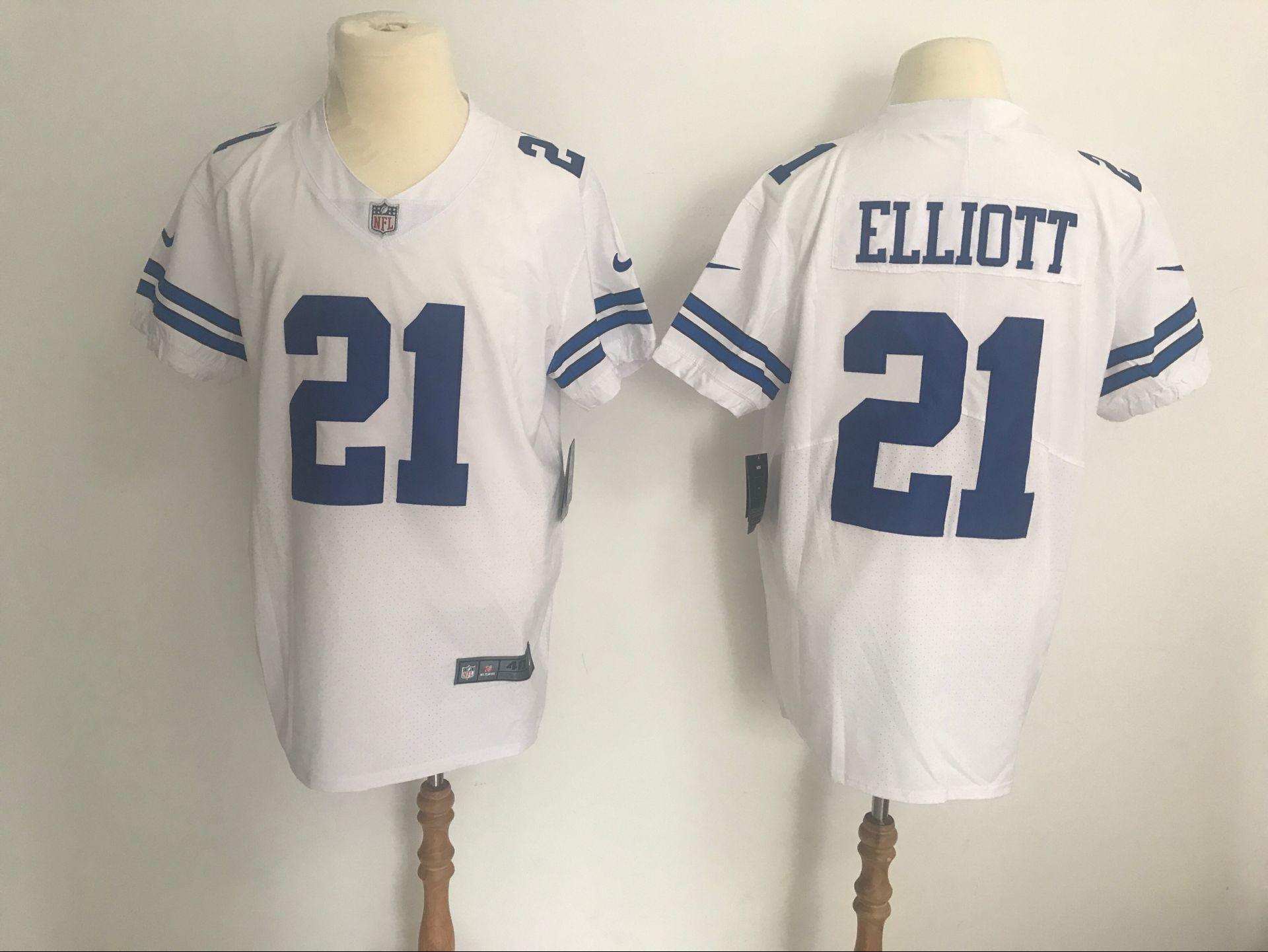 wholesale dealer ad3ff baf3e Cowboys 21 Ezekiel #Elliott White Vapor Untouchable Player ...