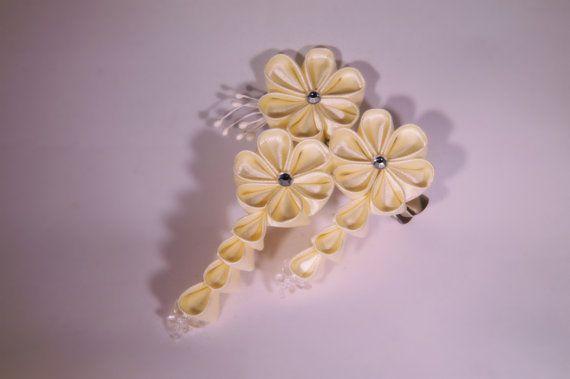 Geisha Kanzashi Hair Clip by MLavendelDesign on Etsy