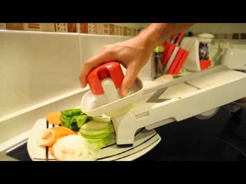 the tupperware mandochef allows you to cut multiple shapes in no time slices french fries. Black Bedroom Furniture Sets. Home Design Ideas