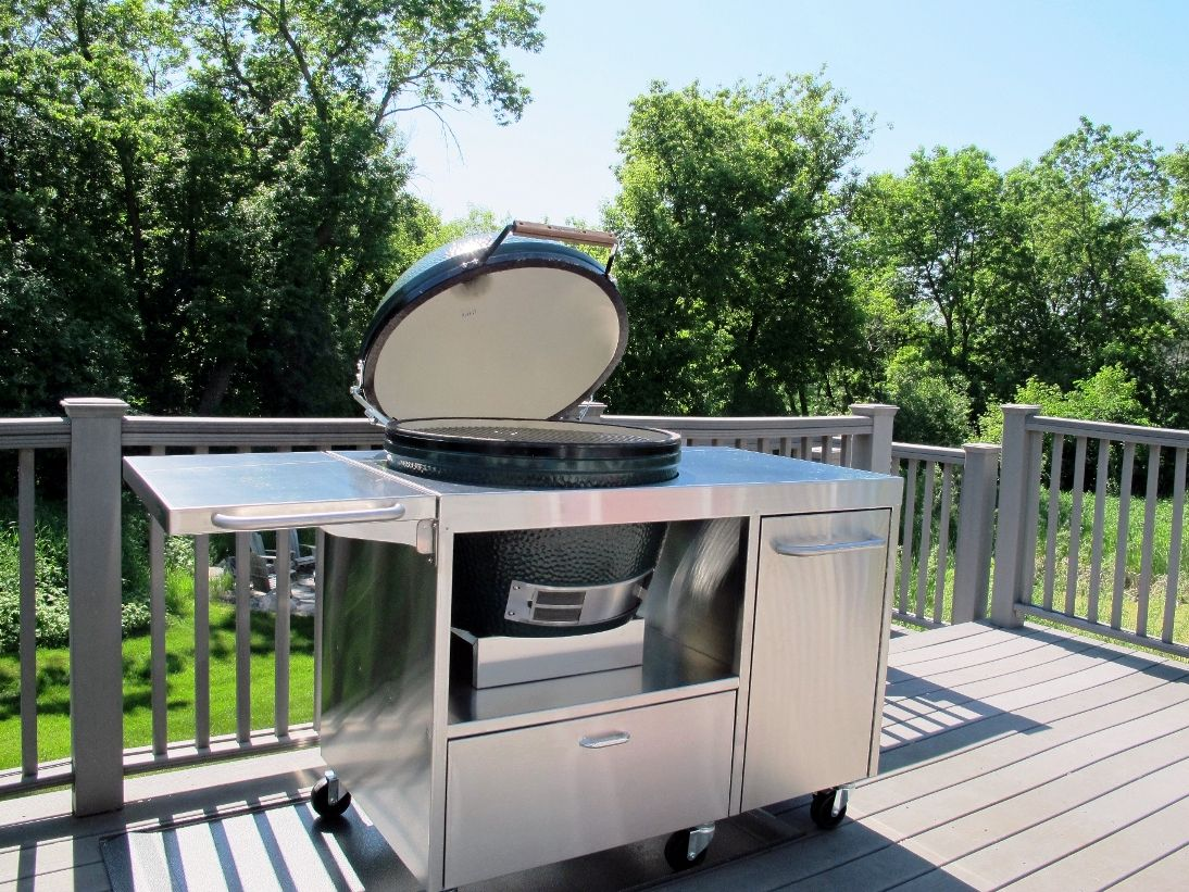 XL Stainless Big Green Egg Table