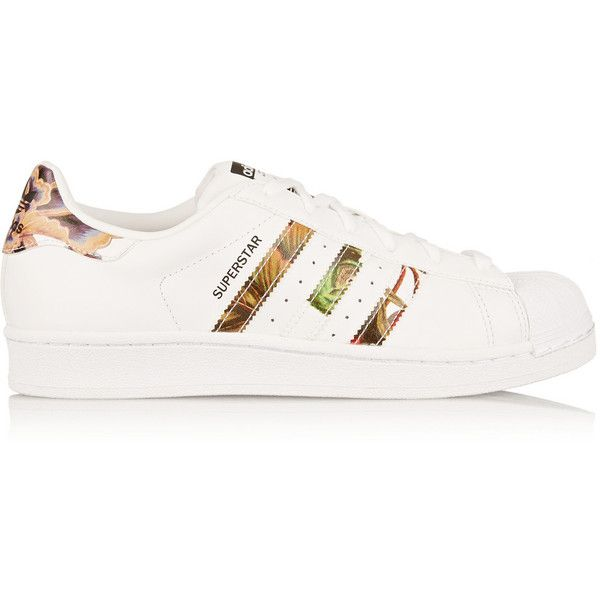 new concept b85a4 6915a Adidas Originals Superstar leather sneakers (3,825 PHP) ❤ liked on Polyvore  featuring shoes,