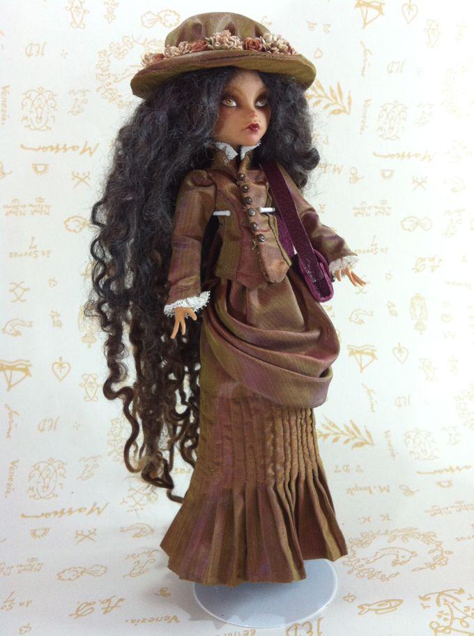 Jane Porter reporter-aventurière 1900 poupée par AtelierMarieLouise