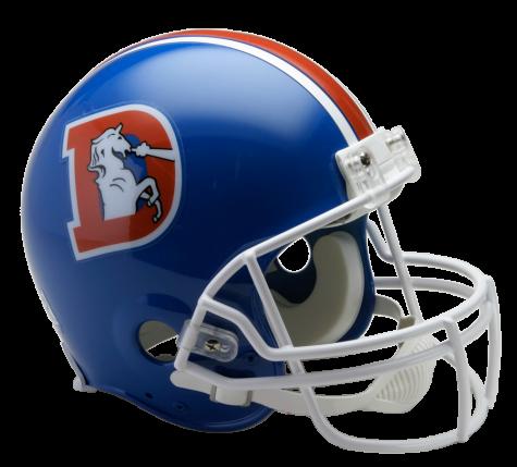 Broncos D Deluxe Replica Helmet Denver Broncos Helmet Broncos Helmet Football Helmets
