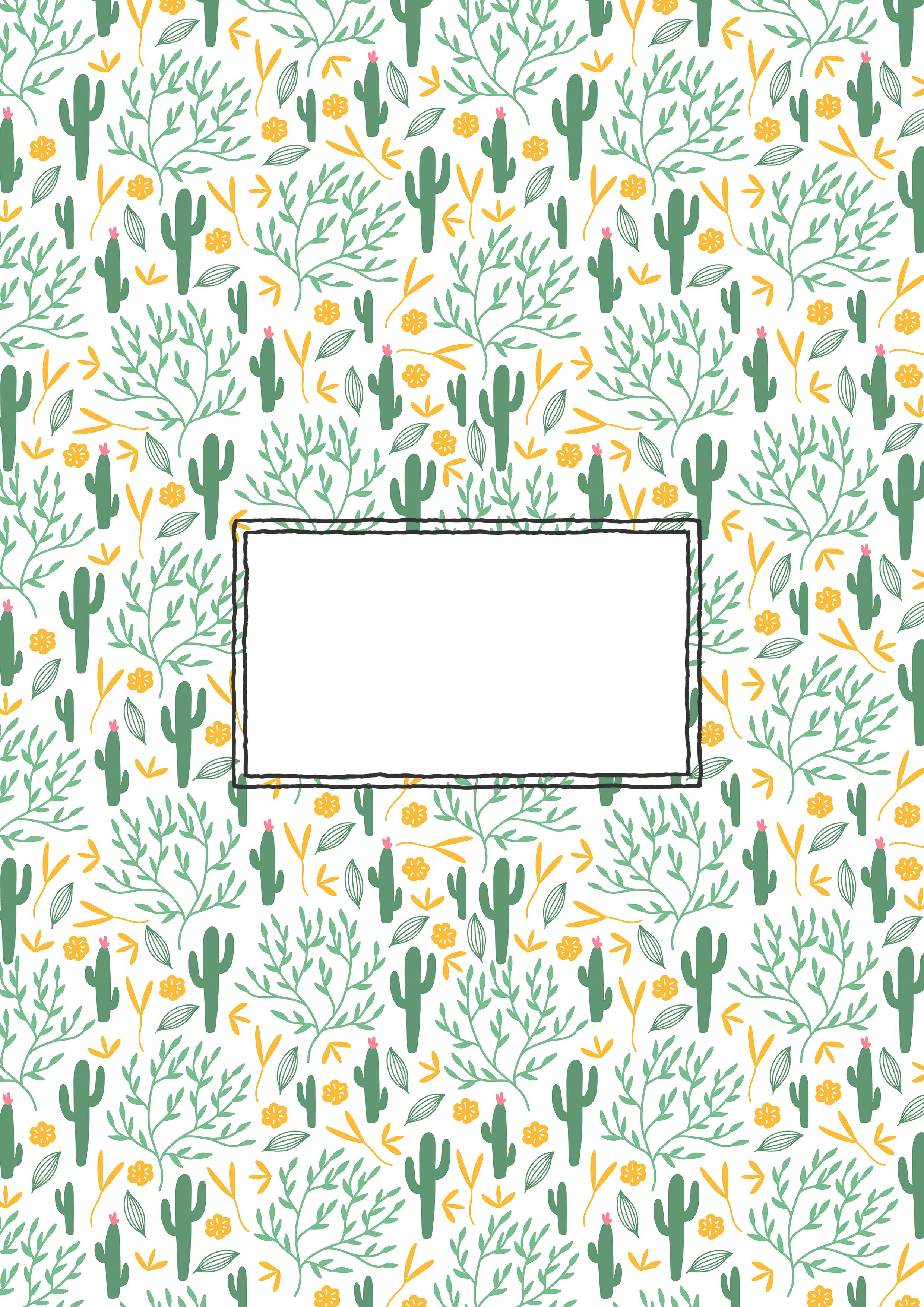 A super cute binder cover with succulents. From the ...