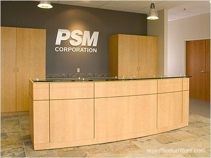 Reception Desks | Office Furniture   Commercial Grade, Quality Wood Veneer  Modular Reception Desk: