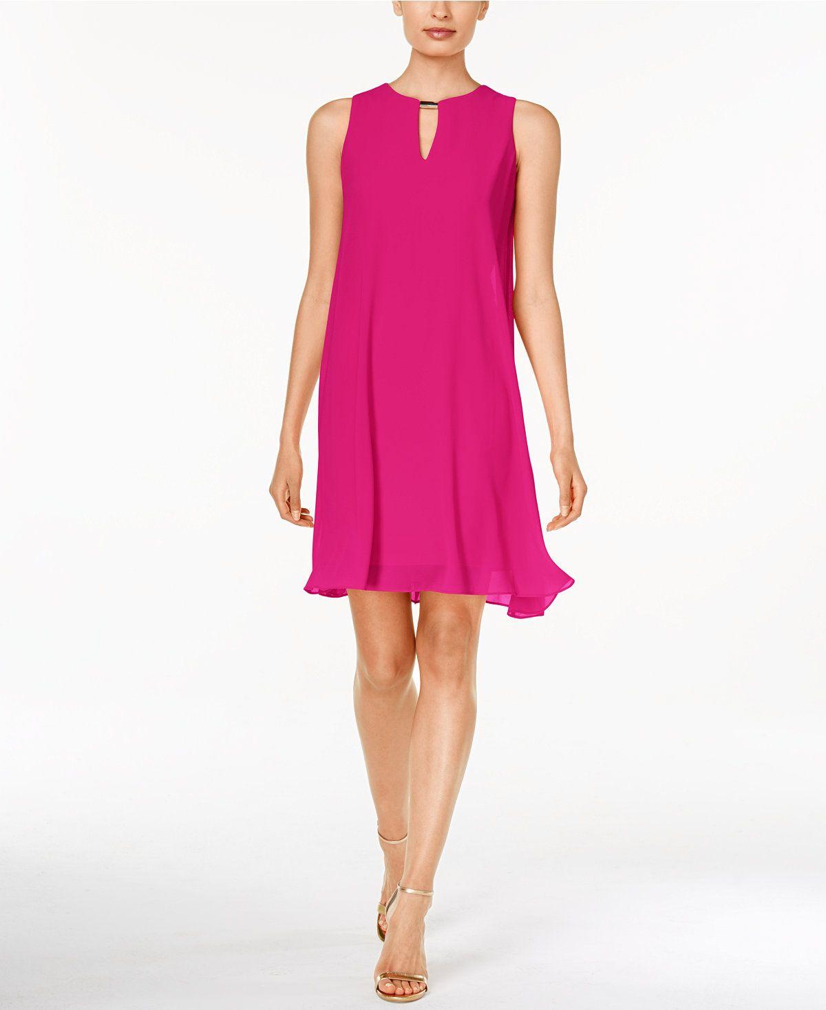 ece25ac5a3 Vince Camuto Sleeveless Keyhole Flyaway Dress - Dresses - Women - Macy s