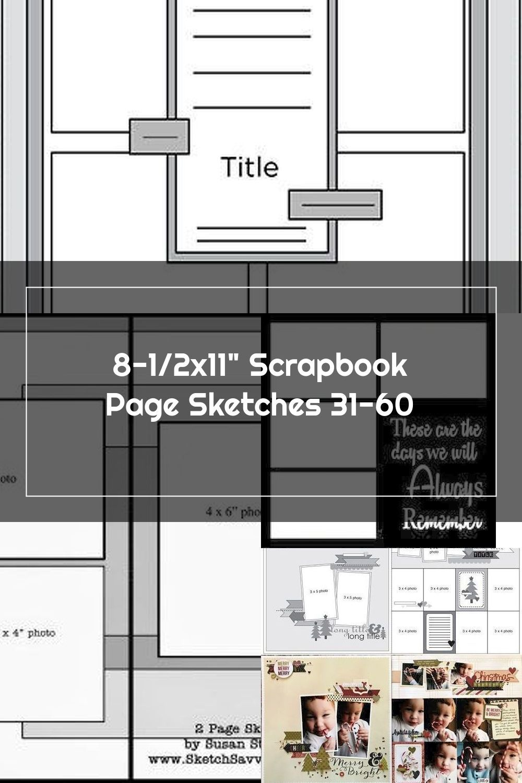 Scrapbook Page Sketch 203 In 2020 Scrapbook Sketches Scrapbook Pages Scrapbook