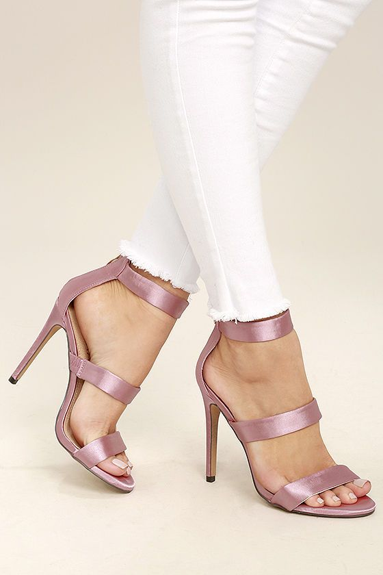19f231a6845 Bellanca Dusty Pink Ankle Strap Heels | Shoes For Tootsies | Heels ...