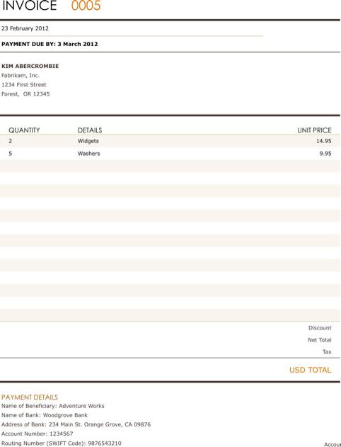 Billing Invoice Template TemplatesForms Pinterest – Billing Invoice