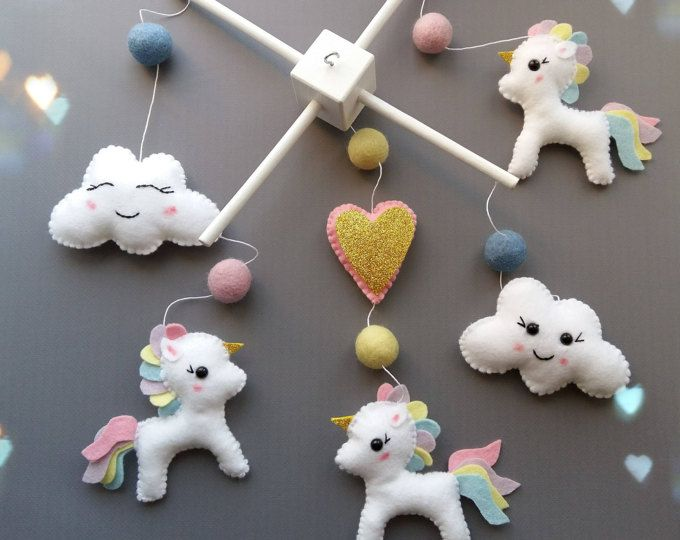 Magica Mobili ~ Bebé móvil unicornio bebé móvil pegasus blanco móvil mágico