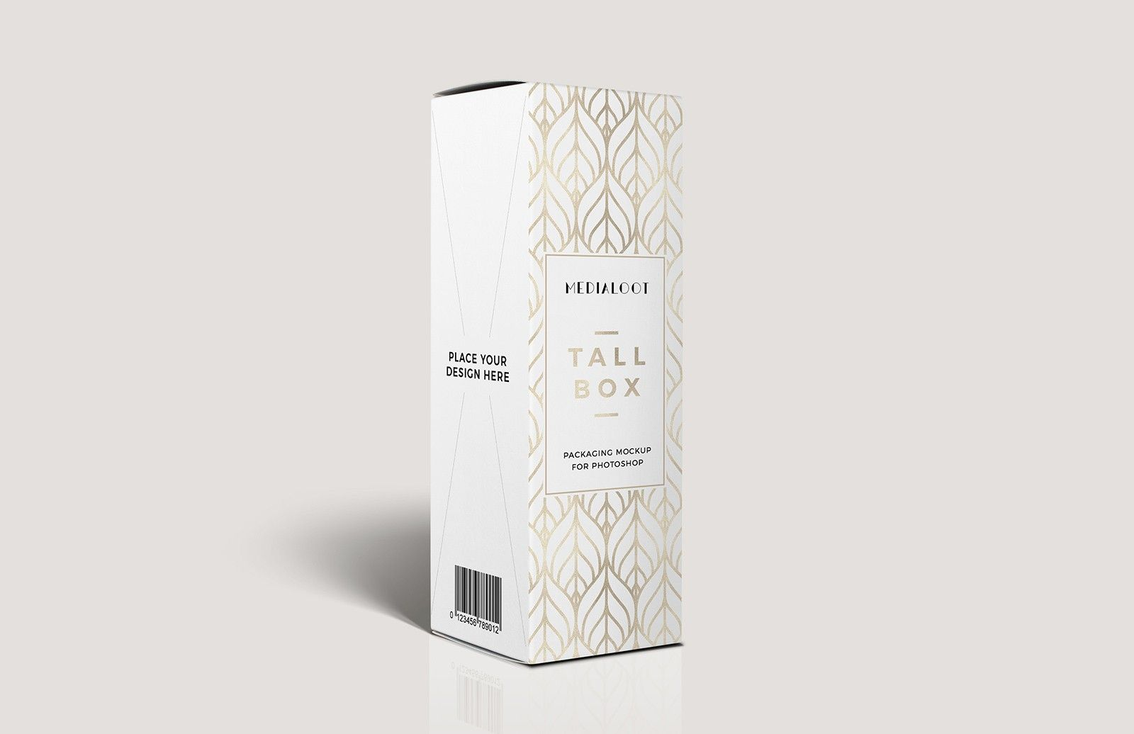 Download Tall Box Packaging Mockup For Photoshop Packaging Mockup Cosmetic Packaging Design Box Packaging
