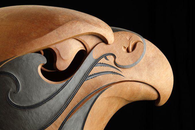 Kārearea the rain bird by todd couper māori artist