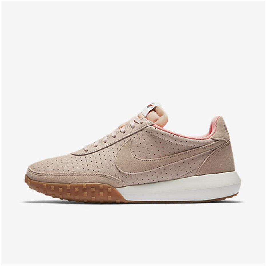 Women Nike Roshe Waffle Racer Premium Trainers In Pink