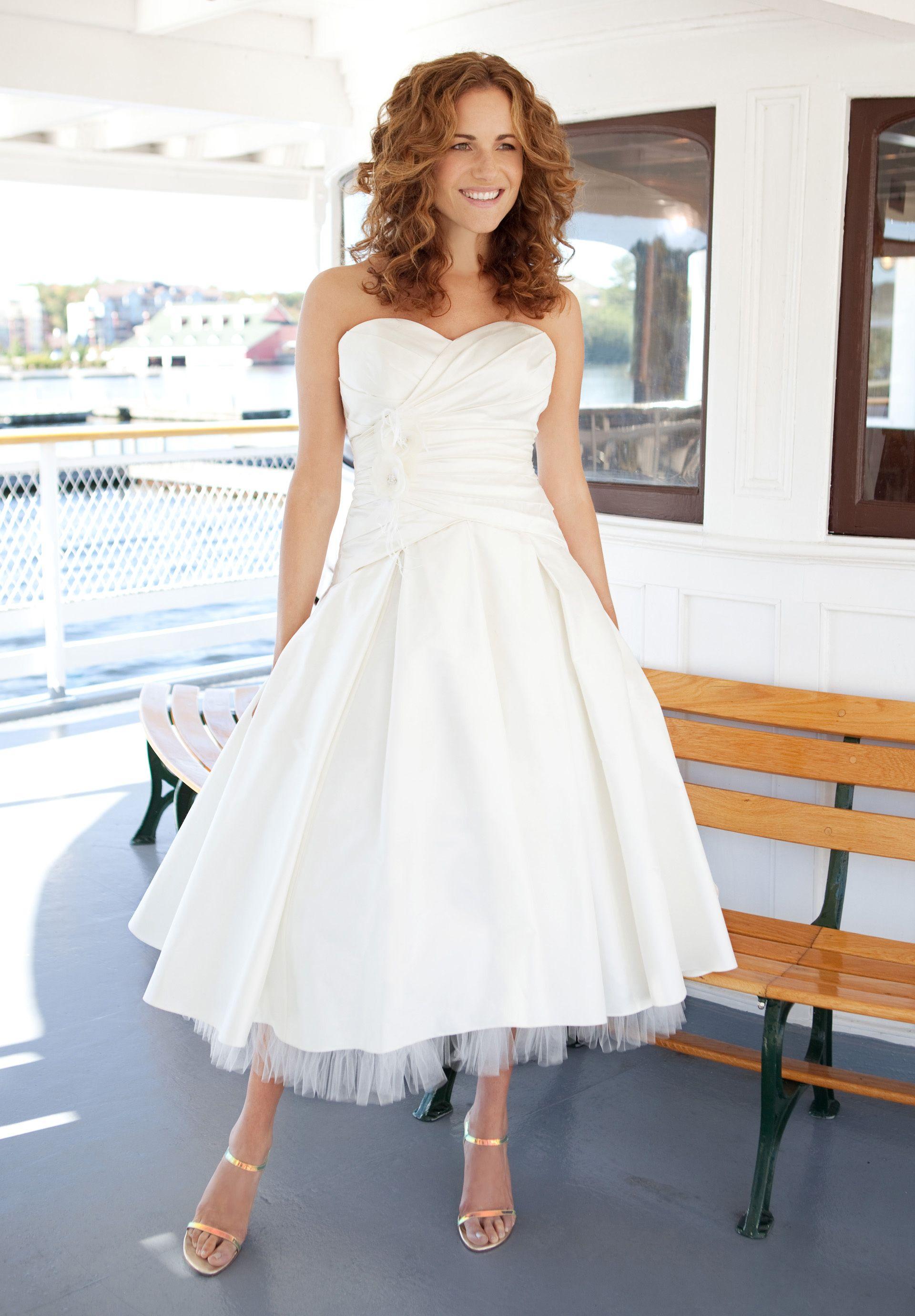 Wedding dresses tea length  Jessie by Lea Ann Belter is an adorable strapless dupioni silk tea