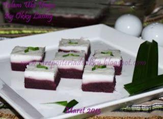 Ncc Jajan Tradisional Indonesia Week Kue Talam Ubi Ungu Resep Kue Makanan Resep Makanan