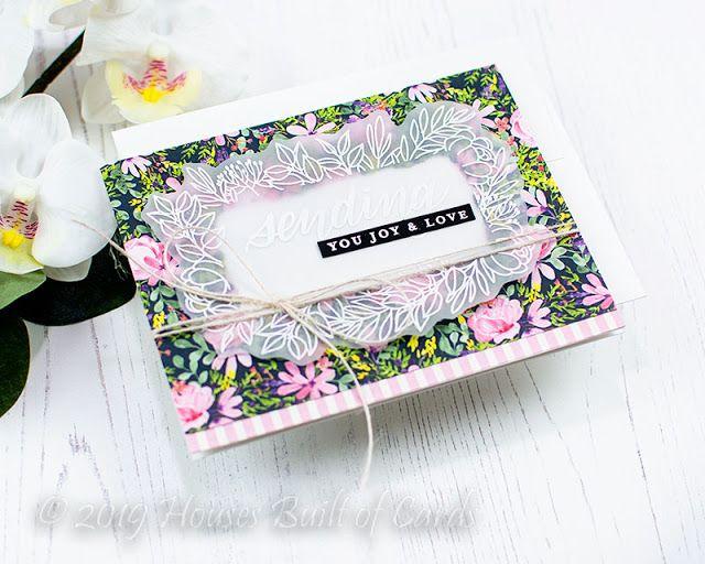 Vellum Floral Frame Card Set - Simon Says Stamp June Card Kit #cardkit