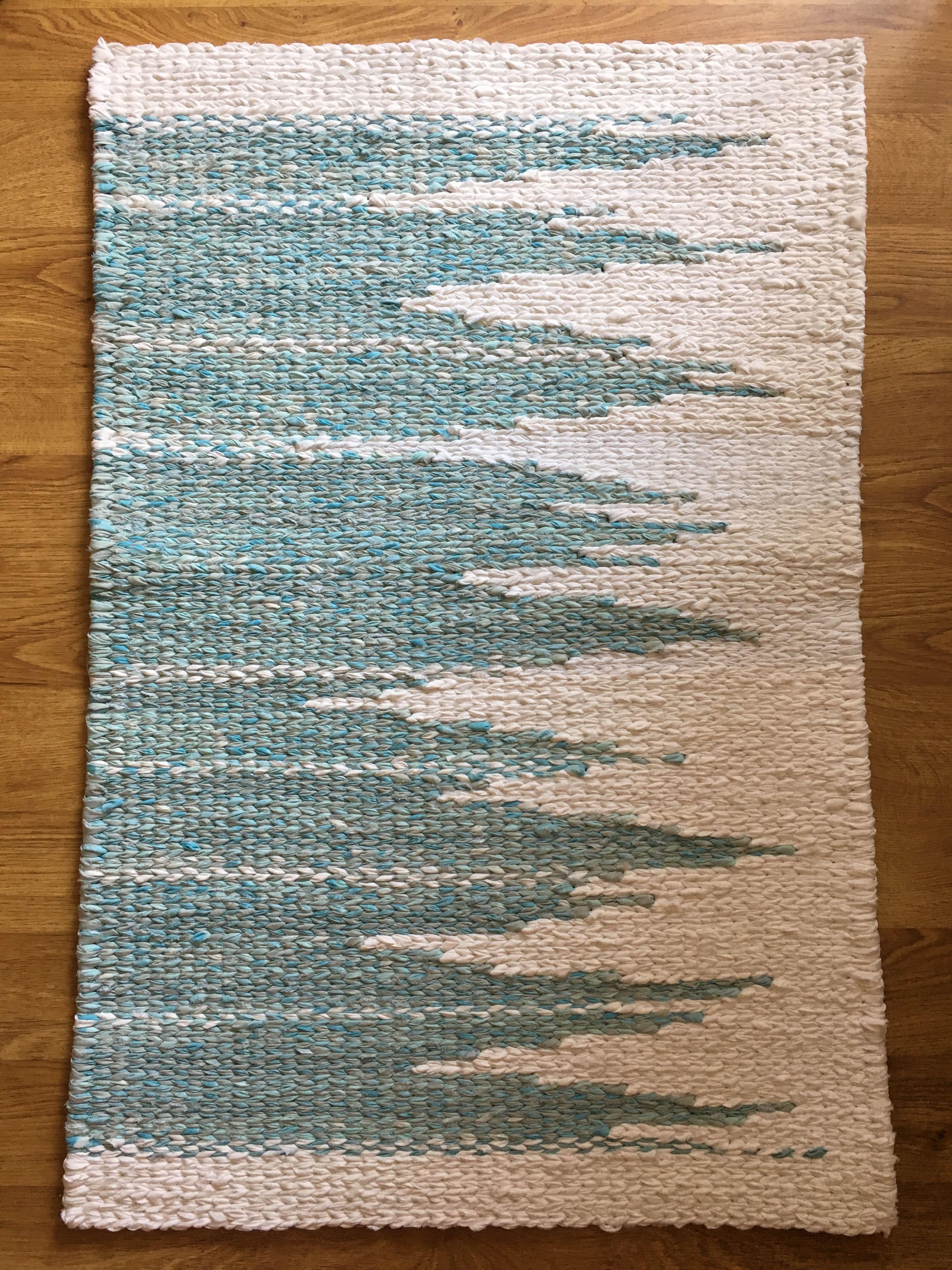 Twined Rag Rug 2 X3 Made By Sunniside Studio Woven Rug Diy Rug Weaving Loom Rag Rug