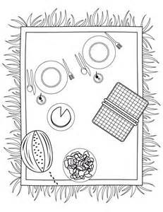 Picnic Basket Coloring Page Pictures To Pin On Pinterest People