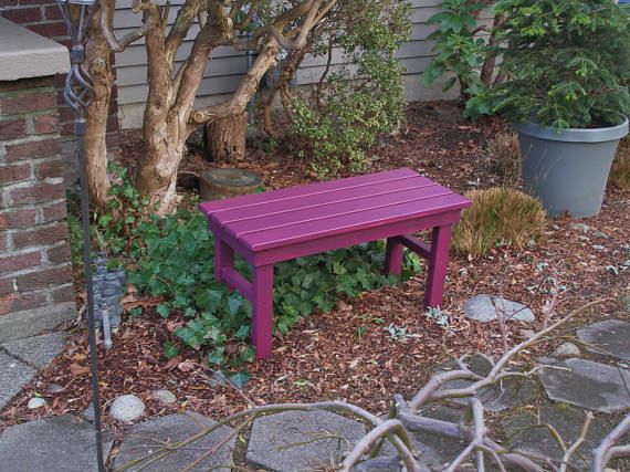 Cedar Garden Bench 12 Colors Available Entryway Bench Etsy Garden Bench Colorful Outdoor Furniture Outdoor Garden Bench