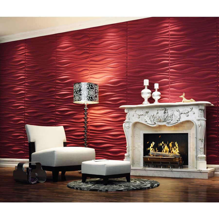 Shop threeDwall Threedwall 1.63in x 2.05ft Embossed Off