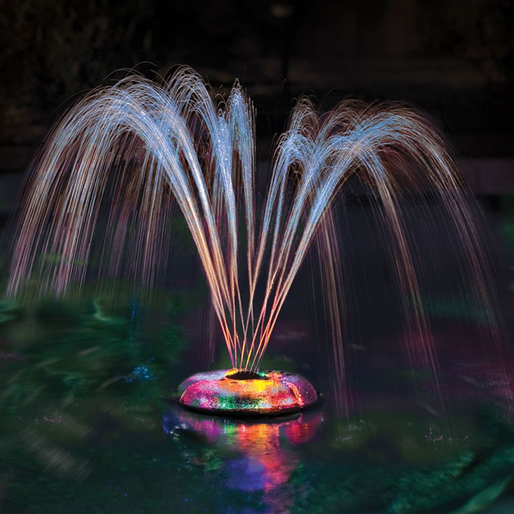 the floating light and water show hammacher schlemmer