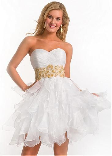 Fabulous Organza Ball Gown Sweetheart Neckline Beaded Homecoming ...
