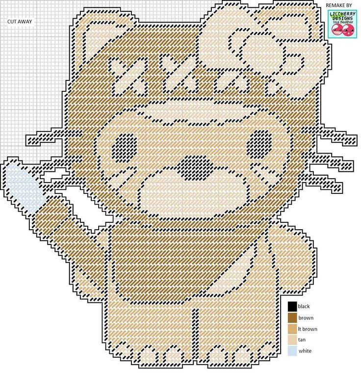 HELLO KITTY AS AN EWOK by LISA HEATHER*LILCHERRY DESIGNS -- WALL ...