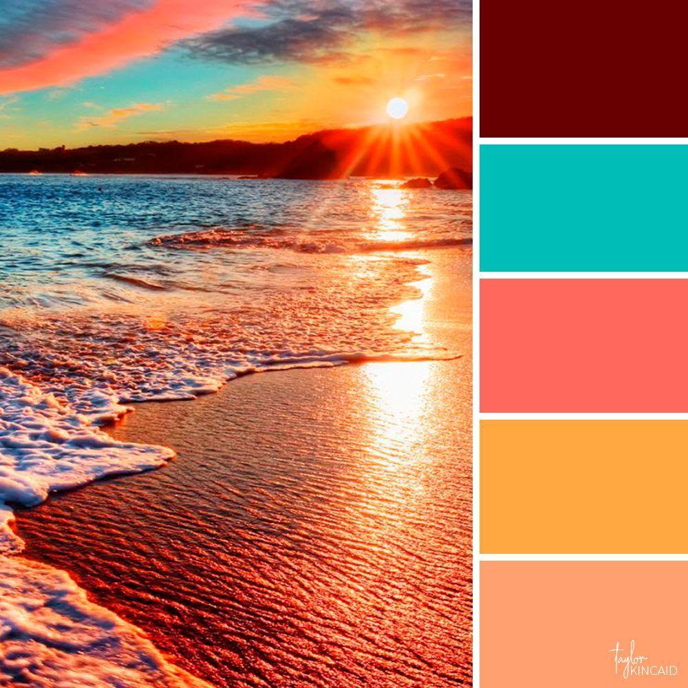 Taylor Kincaid Color Palettes Beachsunsetcolorpalette Color Schemes Colour Palettes Color Palette Sunset Colors