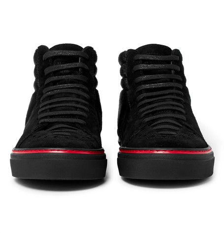 7a96a384f28 GIVENCHY GEORGE V CALF HAIR AND SUEDE HIGH-TOP SNEAKERS. #givenchy ...