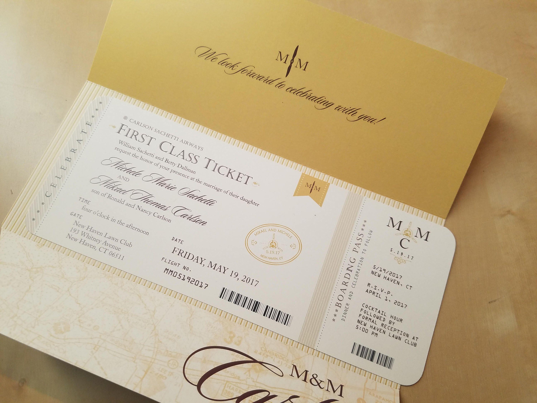 Aviation, Airplane, Travel Themed Wedding Invitation | Travel themed ...