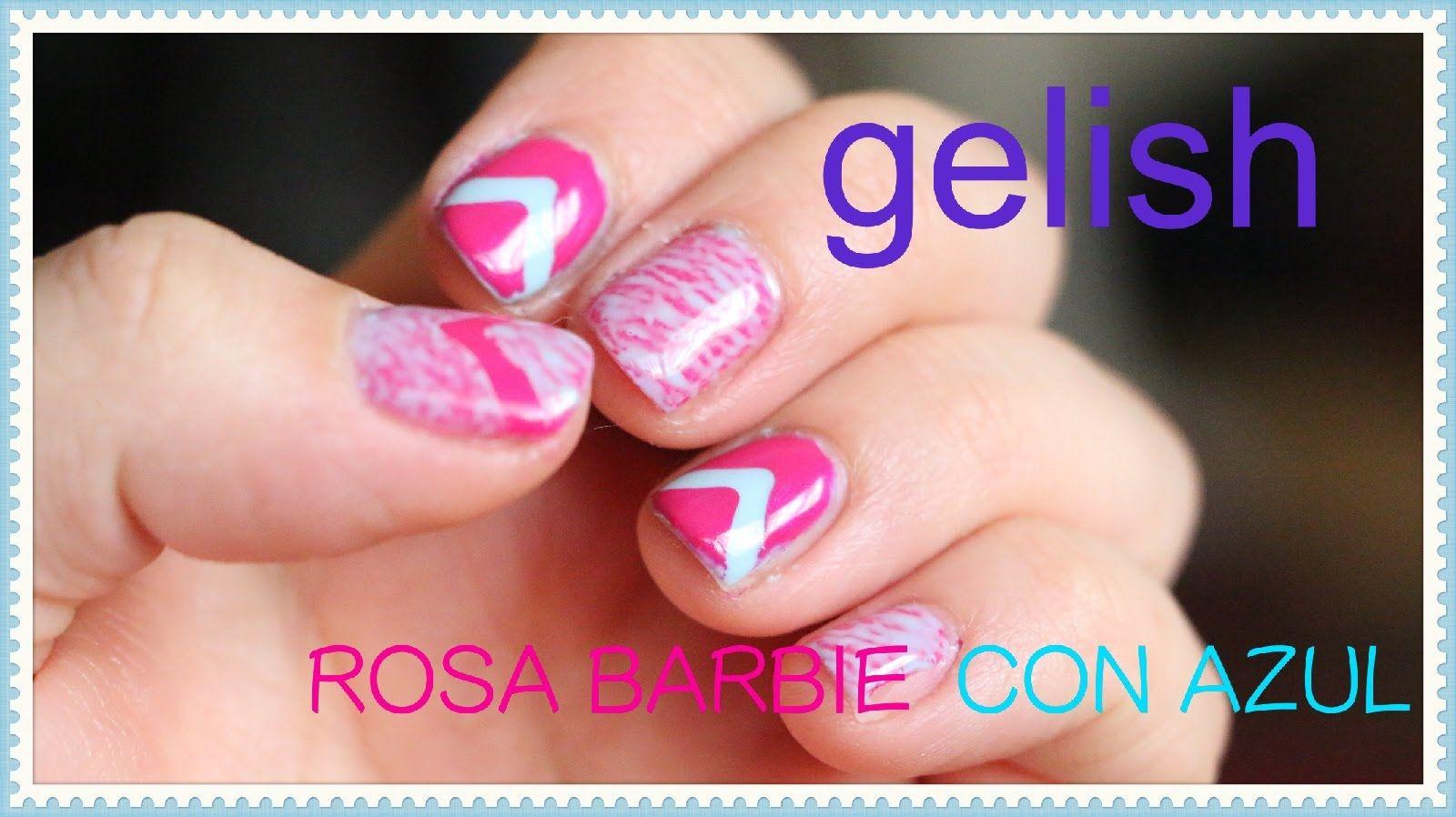 gelish color rosa barbie con azul gelish pinterest barbie