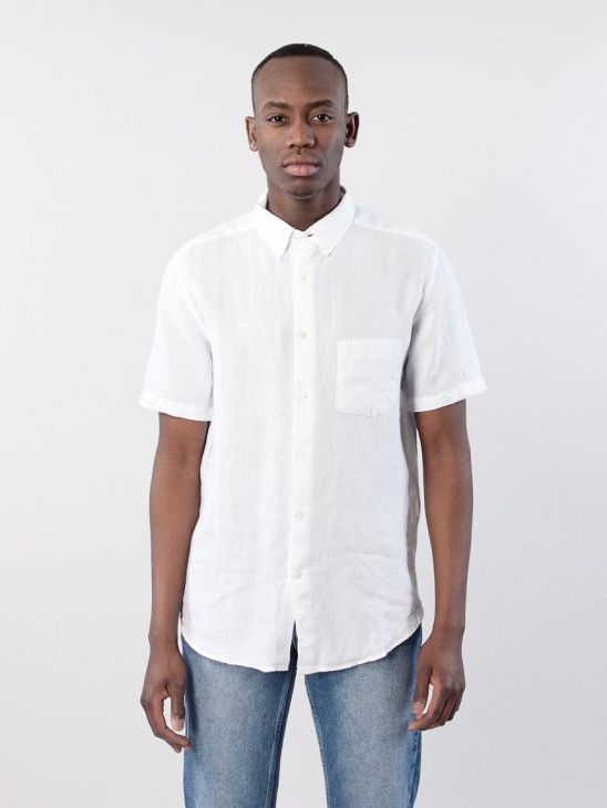 Needs Short Sleeve Linen Shirt by L'Homme Rouge SS16