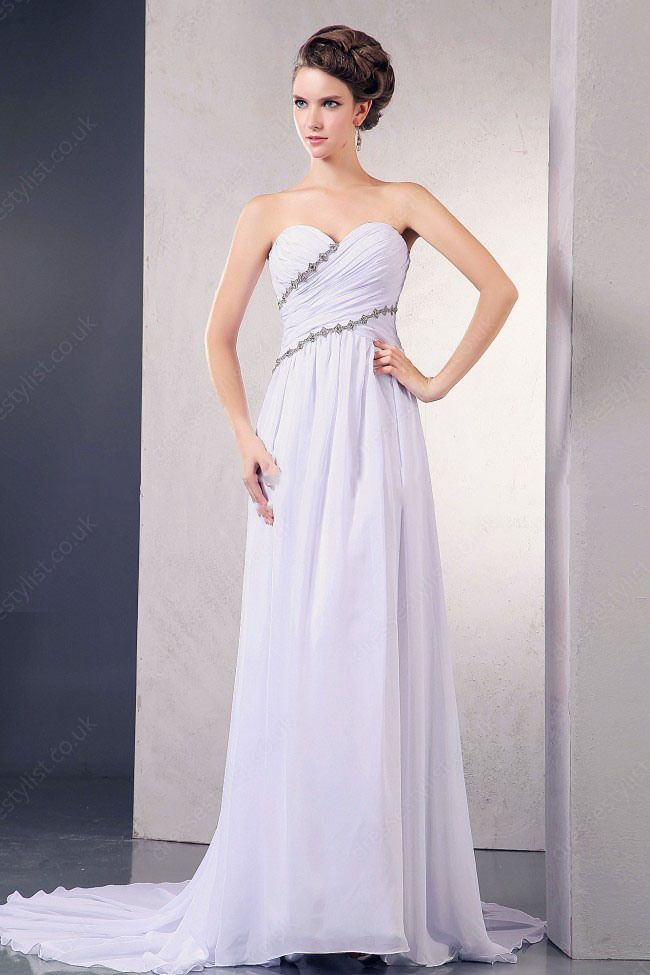 Casual wedding gowns in informal wedding party