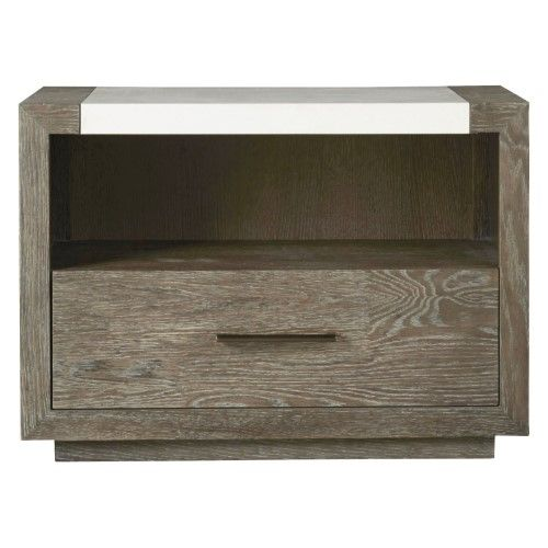 Universal Furniture Wilshire 1 Drawer Nightstand Grey Bedroom Furniture Stores Contemporary
