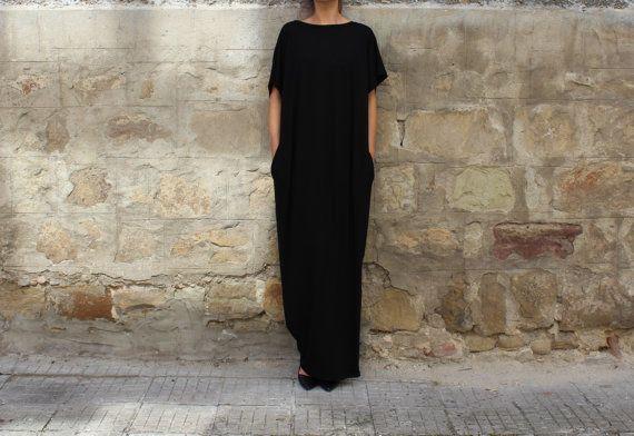 Black Maxi Dress Backless dress Caftan von cherryblossomsdress