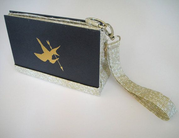 """The Hunger Games"" book clutch by bibliobags on Etsy"