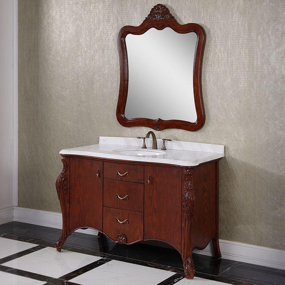 Carrara White Marble Top Brown 53-inch Single Sink Bathroom Vanity on 44 inch bathroom vanity, 46 inch bathroom vanity, 52 inch bathroom vanity, 34 inch bathroom vanity, 60 inch bathroom vanity, 27 inch bathroom vanity, 14 inch bathroom vanity, 23 inch bathroom vanity, 32 inch bathroom vanity, 22 inch bathroom vanity, 68 inch bathroom vanity, 59 inch bathroom vanity, 16 inch bathroom vanity, 20 inch bathroom vanity, 10 inch bathroom vanity, 50 inch bathroom vanity, 85 inch bathroom vanity, 26 inch bathroom vanity, 19 inch bathroom vanity, 70 inch bathroom vanity,