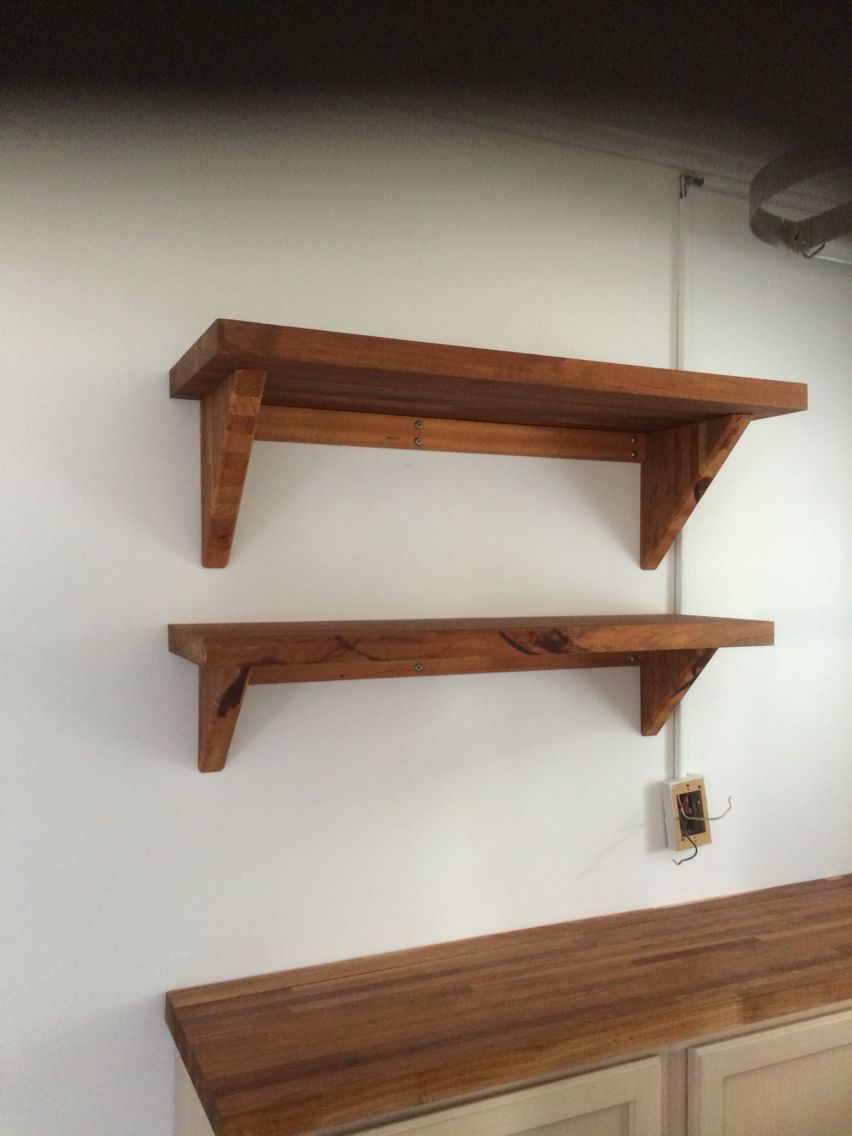 Countertop Braces Butcher Block Shelves And Braces Used Cutoffs From The Matching