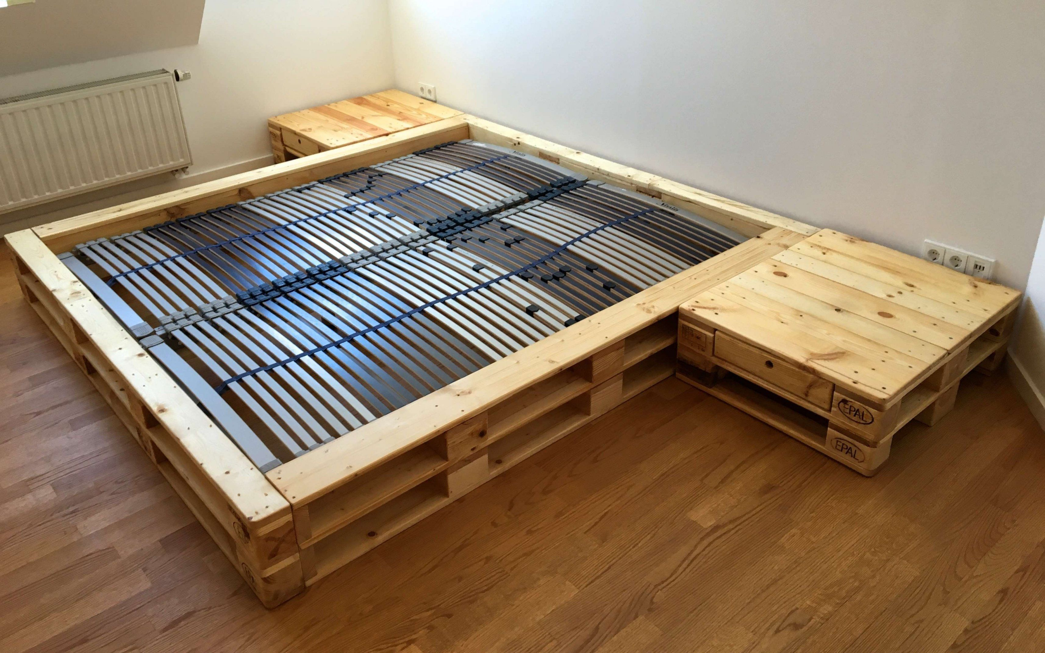 Boxspringbett 140x200 Neu In 2020 Palettenbett Bettrahmen Aus Holzpaletten Bett Mit Lattenrost