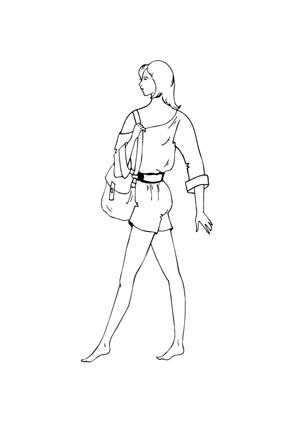 ausmalbild model mit handtasche zum ausmalen. ausmalbilder   malvorlagen   models  