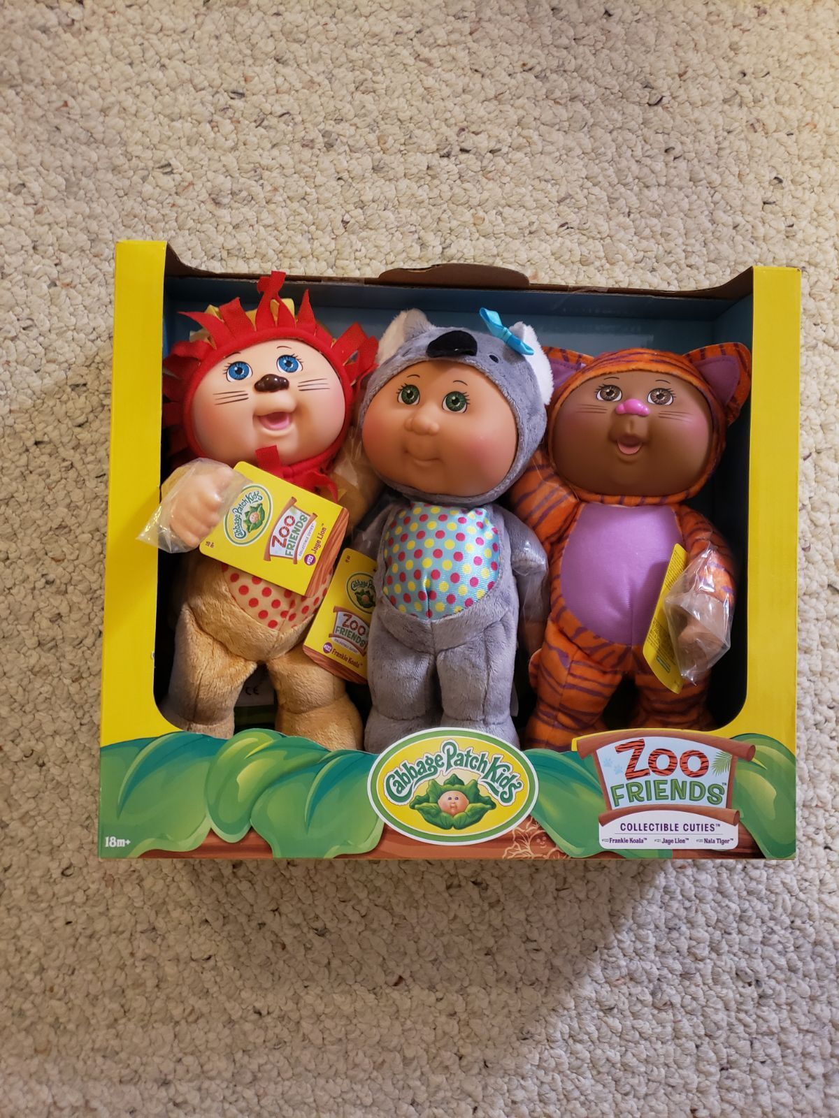 Cabbage Patch Dolls Zoo Friends Collectables This Set Is Jaye Lion Frankie Koala And Nala Cabbage Patch Dolls Cabbage Patch Kids Cabbage Patch Kids Dolls