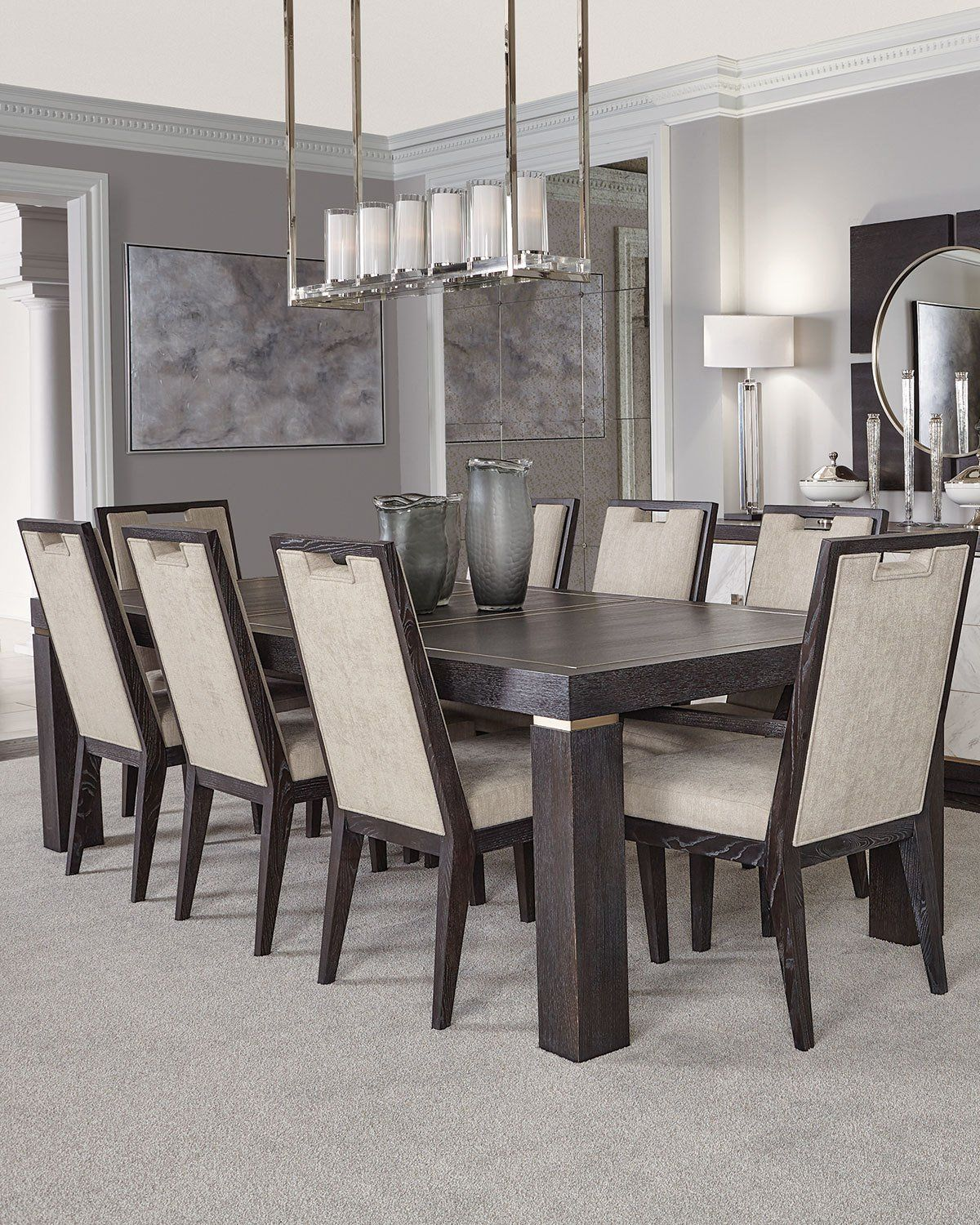 Bernhardt Decorage Stainless Trim Dining Table Dining Table