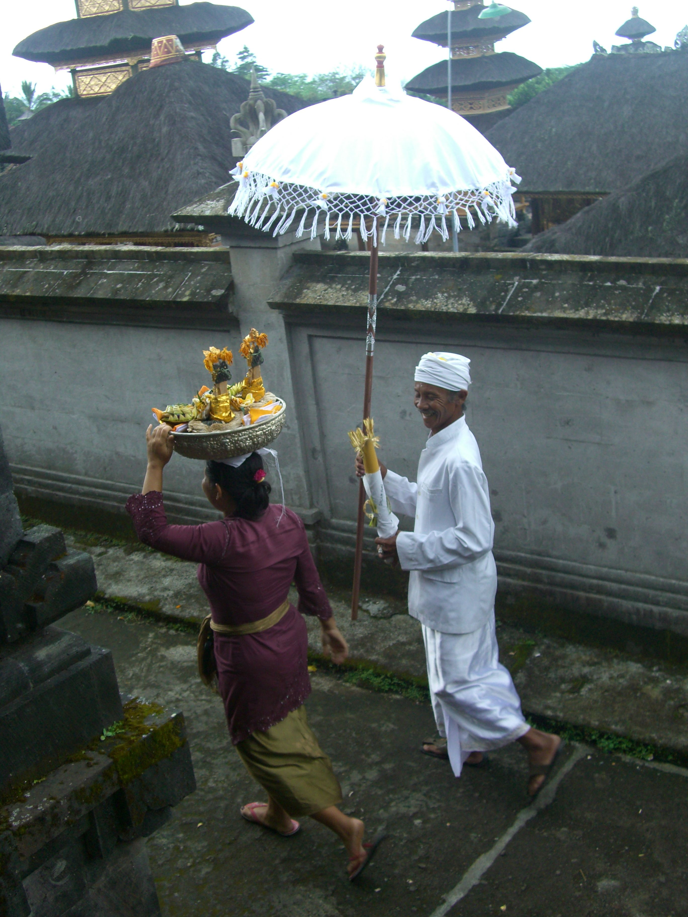 Took this photo at a temple ceremony in Bali.... wonderful culture