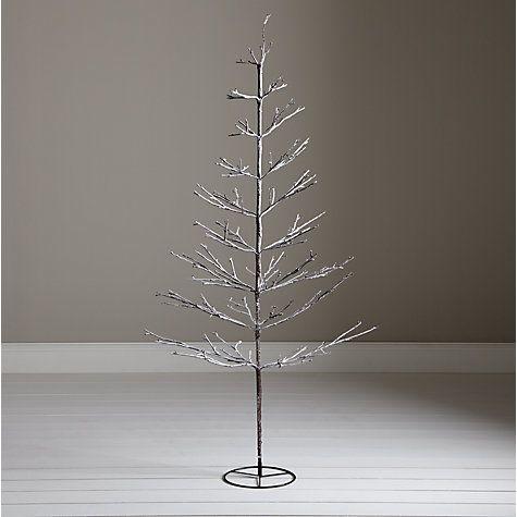 Buy John Lewis Pre-Lit Snowy Twig Christmas Tree, White, 6ft Online at  johnlewis.com - Buy John Lewis Pre-Lit Snowy Twig Christmas Tree, White, 6ft Online