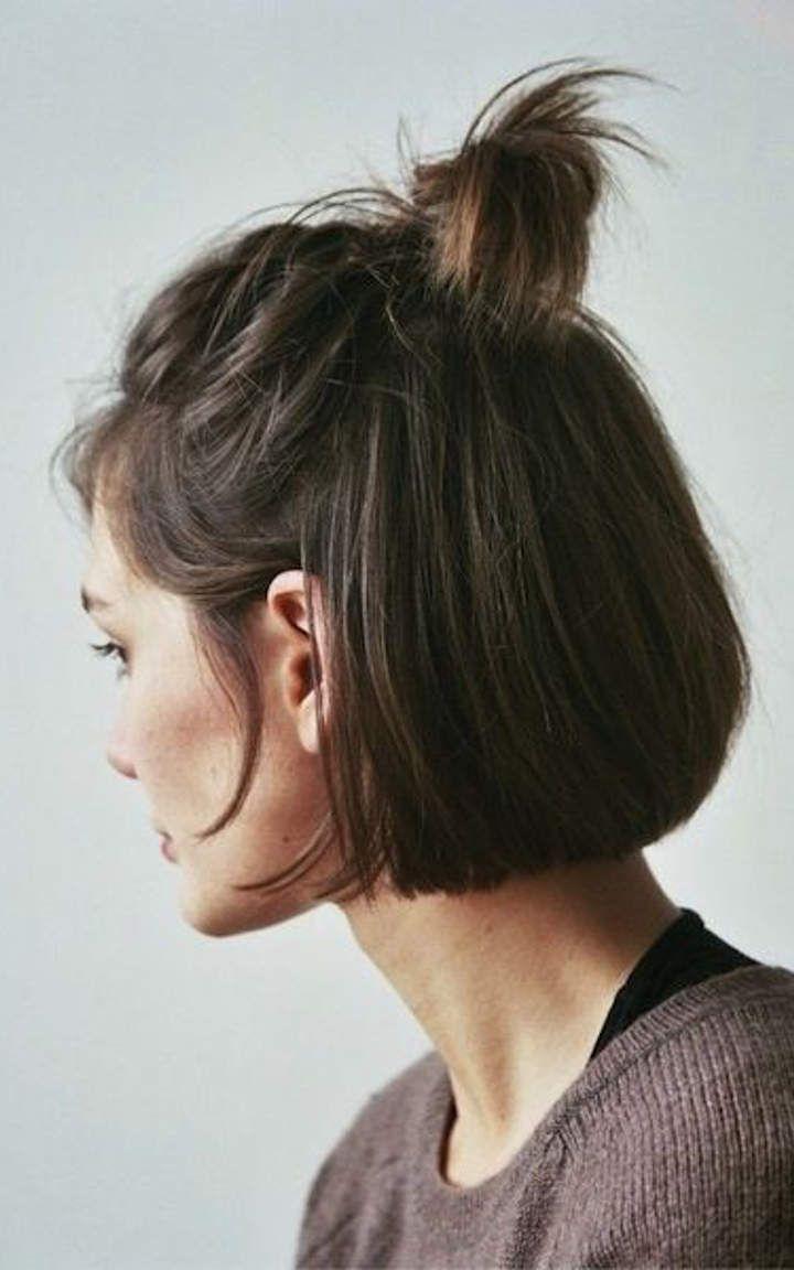 half top knot #5  Gaya rambut pendek, Rambut pendek, Ide gaya rambut